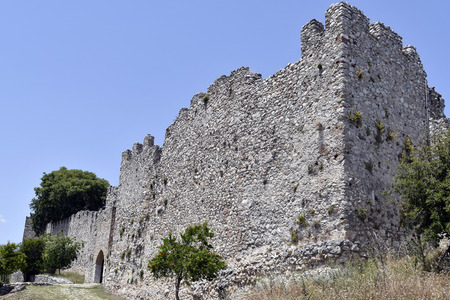 Greece,  Platamon Castle, a medieval Crusader Fortress
