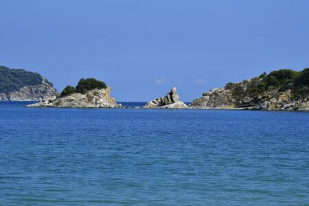 Greece, Kavala, rock formation with natural window in Iraklitsa Imagens