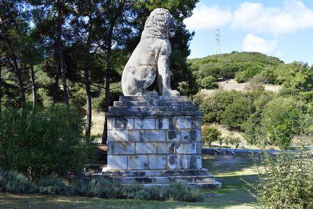 Greece, ancient lion of Amphipolis