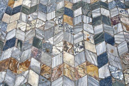 Greece, tilework in UNESCO World heritage site of ancient Philippi, 版權商用圖片