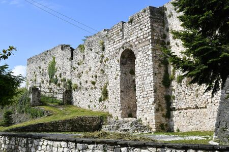 Greece, Ioannina, part of the fortified wall of medieval fortress