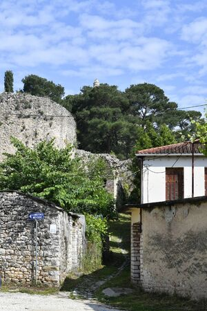 Greece, Ioannina, part of fortified wall of the medieval fortress