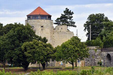 Austria, Hainburg, old watch tower in the town in Lower Austria