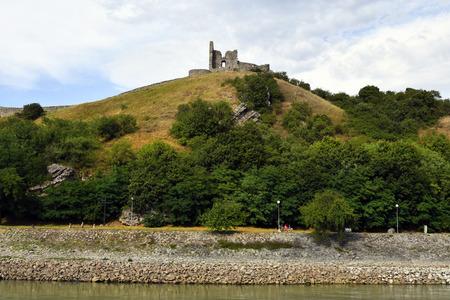 Slovakia, medieval castle Devin on Danube river on the border to Austria