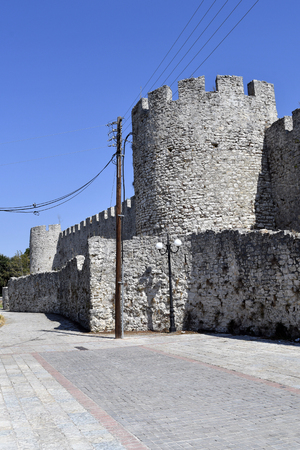 Greece, fortified wall of fortress of Arta in Epirus county 新聞圖片