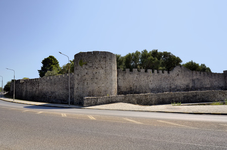 Greece, medieval castle of Arta with fortified wall