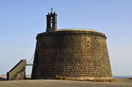 Spain, Lanzarote, Castillo de Las Coloradas in Playa Blanca 版權商用圖片 - 134991460