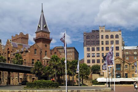 Sydney, Australia - February 12, 2008: The Rocks district , former ware houses - now restaurants and ASNC Building