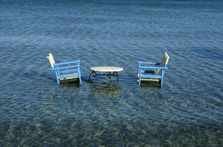 Greece, Zakynthos, a wet seating in Ioanian sea