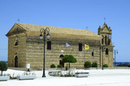 Greece, medieval church Agios Nikolaos in Zakynthos town 版權商用圖片