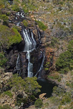 Australia, view from MacKenzie lookout to MacKenzie Falls in Grampians National Park, Victoria