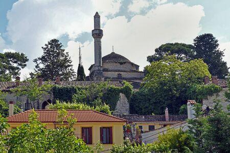 Greece, Ioannina, medieval Aslan Pasha mosque with minaret Stock Photo