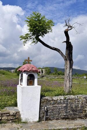 Greece, Ioannina, wayside shrine, situated inside of the public medieval fortress