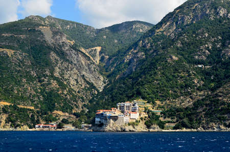 Greece, site of Holy Mount Athos, Monastery Agios Pavlou,