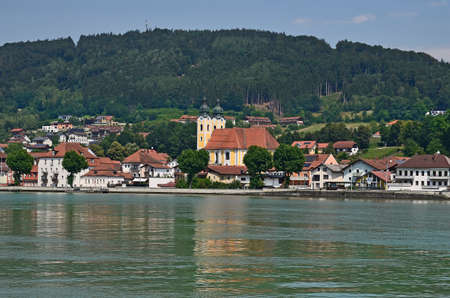 Germany, village Obernzell on Danube river on the border to Austria