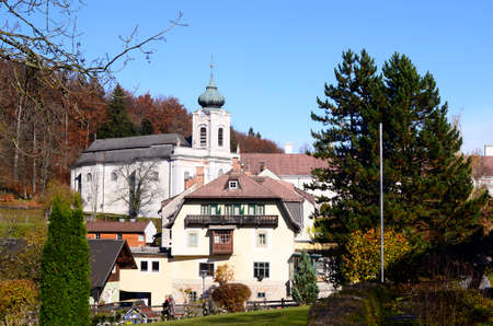 Austria, the hamlet of Mariahilfberg near Gutenstein is a place of pilgrimage in southern Lower Austria with the pilgrimage church Mariahilfberg, a Servite monastery,