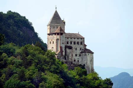 Waidbruck, Italy - June 15, 2013: Medieval castle Trostburg in South Tyrol