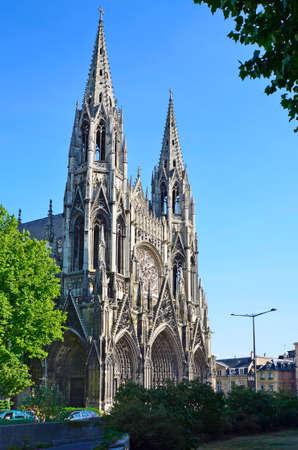 France, gothic cathedral Notre-Dame de Rouen Standard-Bild