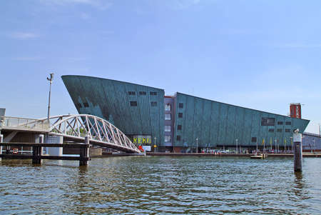 Amsterdam, Netherlands - June 13, 2006: Nemo Museum in Oosterdock, a museum for science and technology
