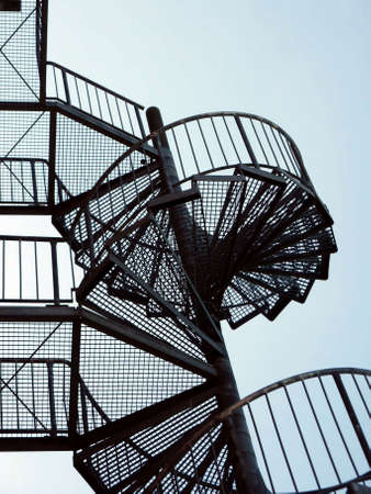 Spiral staircase - a fire ladder in Berlin, Germany Stock Photo - 7260035