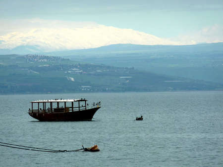 boat on the Sea of Galilee photo