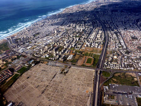 Tel Aviv - aerial view from a plane Stock Photo - 7270066