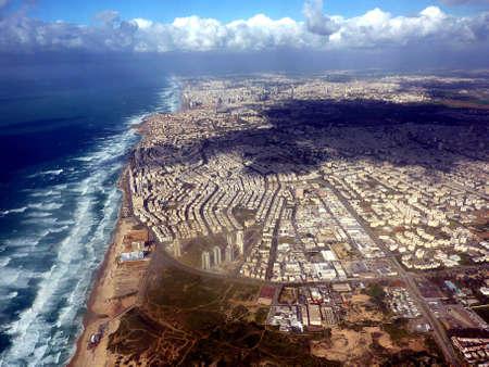 tel: Tel Aviv - aerial view from a plane