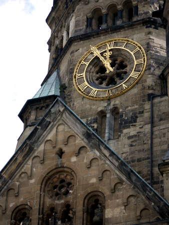 Berlin - bell tower of the Kaiser Wilhelm Memorial Church in Charlottenburg (detail) Standard-Bild