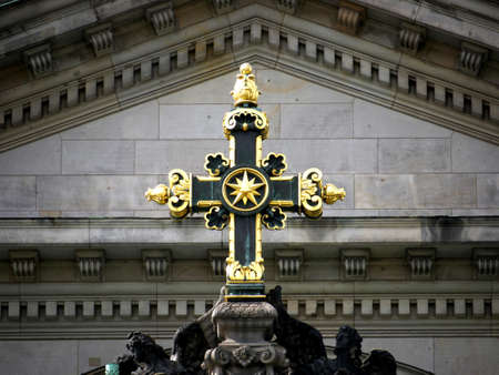 gables: Berlin Cathedral - gables and gold cross