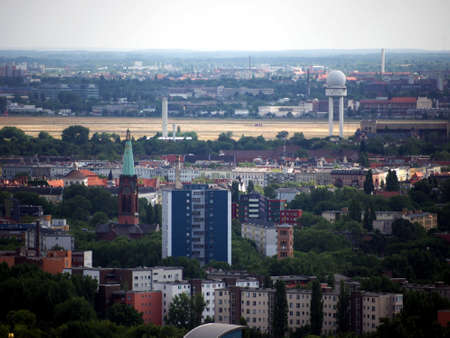 Berlin - view to Kreuzberg and  to a part of the former airport Tempelhof