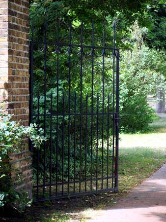 Gate to the park of the monastery Lehnin, Brandenburg, Germany