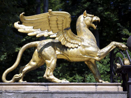 Pegasus at the entrance of the park of Schloss Glienicke, Berlin, Germany
