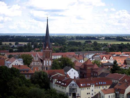 View of Bad Freienwalde in Maerkisch-Oderland, Brandenburg, Germany