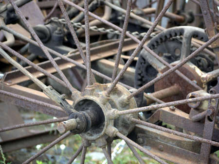 agricultural implements: Detail of an old mowing machine