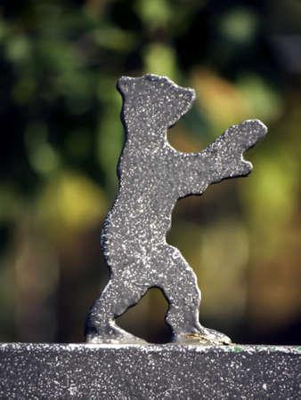 Bear on a garden gate