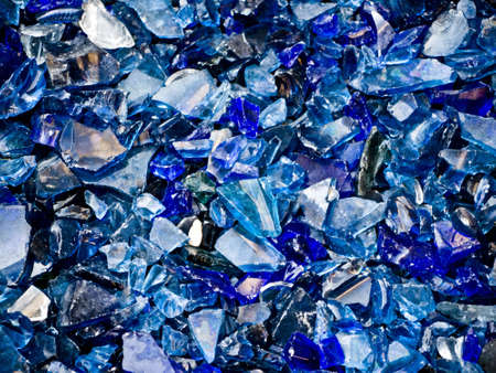 shards: black, blue and light blue glass shards