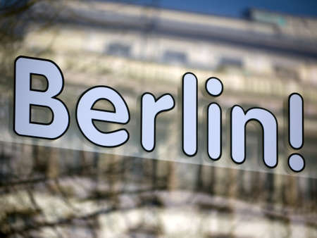 mirroring: Berlin - writing with mirroring in a window