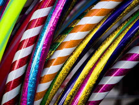 Hula Hoops in different colours and patterns
