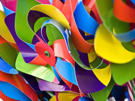 wind wheels - toys in different colours