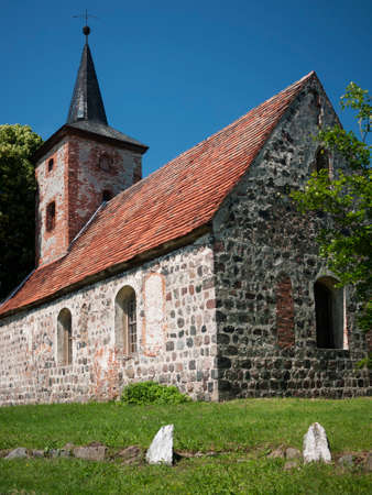 13th: Buskow, Ostprignitz-Ruppin, Brandenburg, Germany - stone church from the 13th century