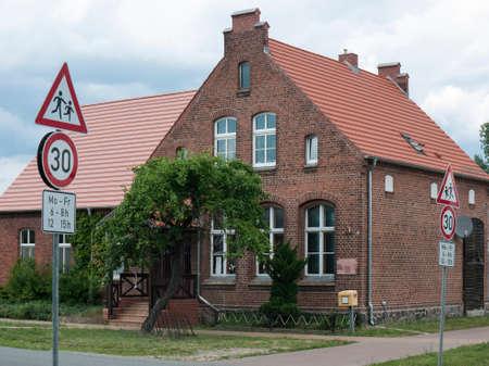 Maerkisch Linden, Gottberg, Ostprignitz-Ruppin, Brandenburg, Germany - old schoolhouse