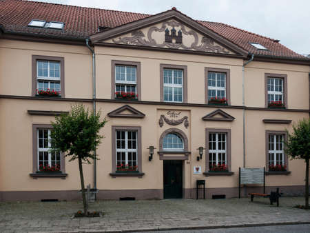 administrative buildings: Gransee, Oberhavel, Brandenburg, Germany - City hall Editorial