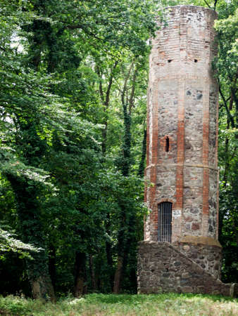 Watch-tower in the city forest. The watch-tower dates from the 15th century and was part of the medieval fortifications
