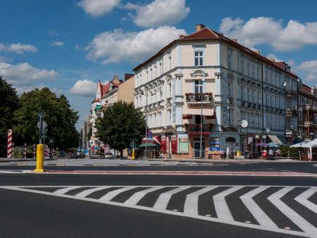 Slubice is a town in western Poland on border to Germany. By 1945 Slubice belonged as Dammvorstadt or Garden City to Frankfurt-Oder. Editoriali
