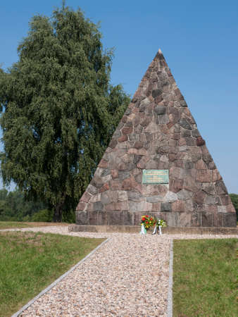 bleach: Grossbeeren, Teltow-Flaming, Brandenburg, Germany - pyramid, which was built in 1906 in memory of General von Buelow, who led the troops in the battle of 23.8.1813 against Napoleon. It bears the inscription: Our bones should bleach before Berlin and not  Editorial