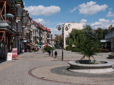 Slubice is a town in western Poland on border to Germany. By 1945 Slubice belonged as Dammvorstadt or Garden City to Frankfurt-Oder. Stock Photo - 37547966