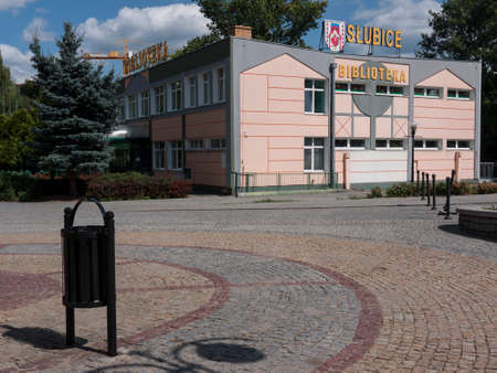 Slubice is a town in western Poland on border to Germany. By 1945 Slubice belonged as Dammvorstadt or Garden City to Frankfurt-Oder. Stock Photo - 37547967