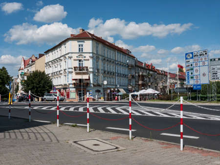 Slubice is a town in western Poland on border to Germany. By 1945 Slubice belonged as Dammvorstadt or Garden City to Frankfurt-Oder. Stock Photo - 37547969