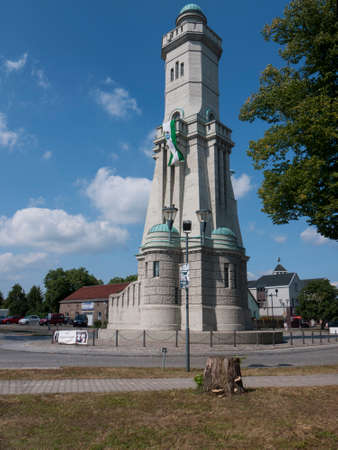 diorama: Grossbeeren, Teltow-Flaming, Brandenburg, Germany - tower, which was built in 1913 to commemorate the Battle of 1813 against Napoleon. It is 32 m high and has a viewing platform. Inside is a small museum with a diorama.