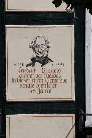 schoolhouse: Joachimsthal, Barnim, Brandenburg, Germany - old schoolhouse